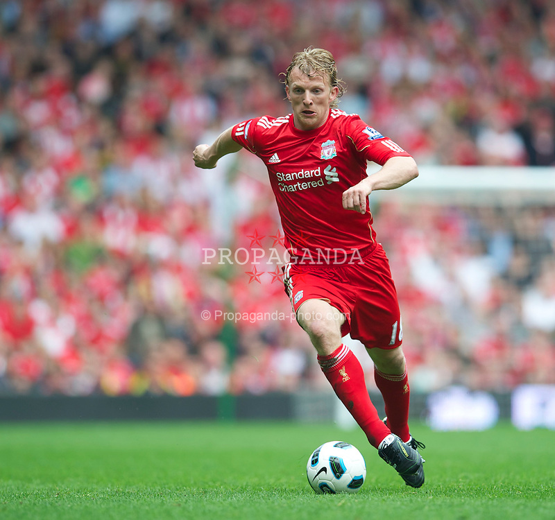 LIVERPOOL, ENGLAND - Saturday, April 23, 2011: Liverpool's Dirk Kuyt in action against Birmingham City during the Premiership match at Anfield. (Photo by David Rawcliffe/Propaganda)