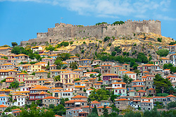 View of Molyvos on Lesvos Island in Greece