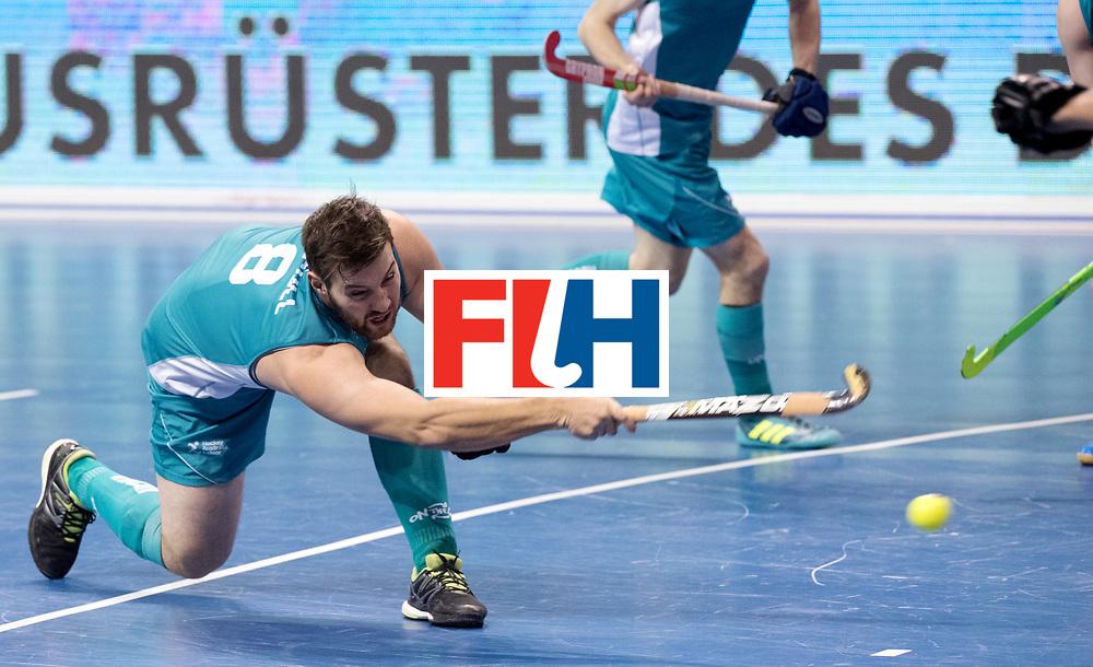 BERLIN - Indoor Hockey World Cup<br /> Men: Australia - Kazakhstan<br /> foto: SECCULL Adam.<br /> WORLDSPORTPICS COPYRIGHT FRANK UIJLENBROEK