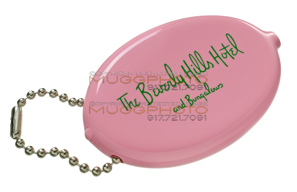 pink coin purse from the beverly hills hotel and bungalows