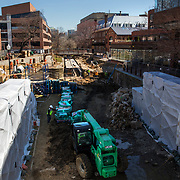 WASHINGTON, DC - MAR23: Construction work on the Chesapeake and Ohio (C&O) Canal in Georgetown, Washington, DC, March 23, 2017. Developers are hoping to upgrade the the one mile stretch of the C&O Canal that runs through Georgetown to create a destination experience like the Highline in New York City. (Photo by Evelyn Hockstein/For The Washington Post)