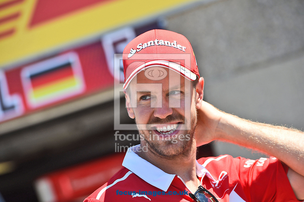 Sebastian Vettel of Scuderia Ferrari during the practice session of the Canadian Formula One Grand Prix at the Circuit Gilles Villeneuve, Montreal<br /> Picture by EXPA Pictures/Focus Images Ltd 07814482222<br /> 09/06/2017<br /> *** UK &amp; IRELAND ONLY ***<br /> <br /> EXPA-EIB-170609-0327.jpg
