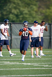 Daniel Childress (40)..The 2007 Virginia Cavaliers football team opened fall practice on August 6, 2007 at the University of Virginia football practice fields near the McCue Center in Charlottesville, VA.