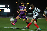 Billy Waters and Connor Townsend during the Vanarama National League match between Grimsby Town FC and Cheltenham Town at Blundell Park, Grimsby, United Kingdom on 30 October 2015. Photo by Antony Thompson.