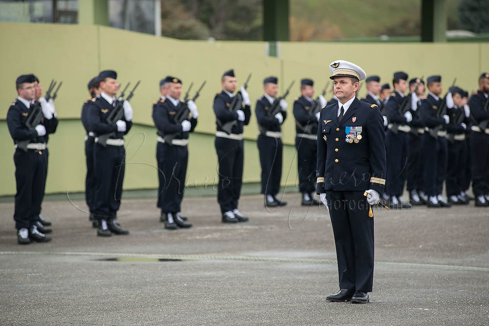 LYON, FRANCE - DECEMBER 10: Lieutenant-colonel Alain Mulois attends the 40th anniversary of Base Aerienne 942 at the NATO base shelters the Headquarters Air Defense Command and the French National Centre for Air Operations on December 10, 2014 in Lyon, France. (Photo by Bruno Vigneron/Getty Images)