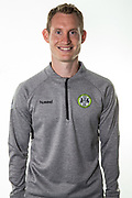 Forest Green Rovers strength and conditioning coach Tom Huelin during the 2018/19 official team photocall for Forest Green Rovers at the New Lawn, Forest Green, United Kingdom on 30 July 2018. Picture by Shane Healey.