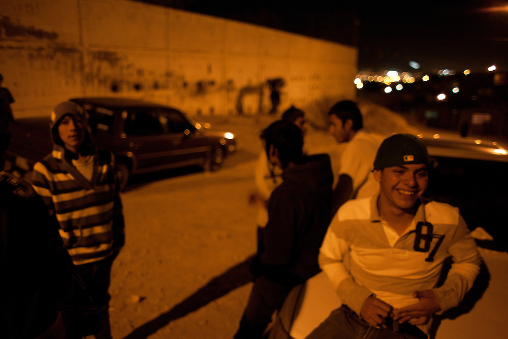 Members of the Noveno gang hang out in Ciudad Juarez.