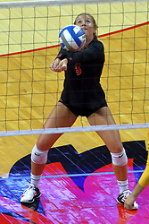 23 November 2017:  Courtney Pence during a college women's volleyball match between the Valparaiso Crusaders and the Illinois State Redbirds in the Missouri Valley Conference Tournament at Redbird Arena in Normal IL (Photo by Alan Look)