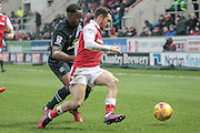 Jon Taylor (Rotherham United) runs with the ball during the EFL Sky Bet Championship match between Rotherham United and Blackburn Rovers at the AESSEAL New York Stadium, Rotherham, England on 11 February 2017. Photo by Mark P Doherty.