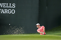 May 5, 2019 - Charlotte, North Carolina, United States of America - Rory McIlroy hits a shot from the sand on the fifteenth hole during the final round of the 2019 Wells Fargo Championship at Quail Hollow Club on May 05, 2019 in Charlotte, North Carolina. (Credit Image: © Spencer Lee/ZUMA Wire)
