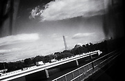 Washington Monument, Washington, DC <br />  <br /> Washington Monument seen from the Yellow line metro.