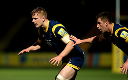 Justin Clegg of Worcester Cavaliers and Huw Taylor of Worcester Cavaliers - Mandatory by-line: Robbie Stephenson/JMP - 03/04/2017 - RUGBY - Sixways Stadium - Worcester, England - Worcester Cavaliers v Wasps A - Aviva A League