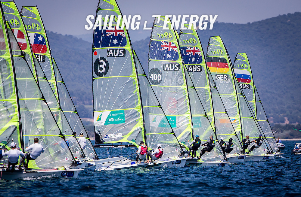 &copy;SAILING ENERGY sailing photography. <br /> From 20-26 April 2015 ISAF Sailing World Cup Hy&egrave;res returns to the French Riviera, bringing together the world's top Olympic and Paralympic class competitors. ISAF Sailing World Cup Hy&egrave;res is the penultimate regatta included in the 2015 ISAF Sailing World Cup, the seventh edition of the annual series for Olympic sailing.<br /> ISAF Sailing World Cup Hyeres is a qualification regatta for the 2015 ISAF Sailing World Cup Final scheduled for 29 October to 1 November 2015 in Abu Dhabi, United Arab Emirates. Hyeres gold medallists in each Olympic event will qualify for the World Cup Final.