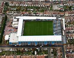 Image &copy;Licensed to i-Images Picture Agency. Aerial views. United Kingdom.<br /> Priestfield stadium, home of Gillingham FC. Picture by i-Images