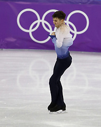 February 17, 2018 - Pyeongchang, KOREA - Misha Ge of Uzbekistan competing in the men's figure skating free skate program during the Pyeongchang 2018 Olympic Winter Games at Gangneung Ice Arena. (Credit Image: © David McIntyre via ZUMA Wire)