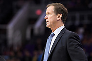 Oct 11, 2017; Phoenix, AZ, USA; Portland Trail Blazers head coach Terry Stotts reacts in the game against the Phoenix Suns in the first half at Talking Stick Resort Arena. Mandatory Credit: Jennifer Stewart-USA TODAY Sports