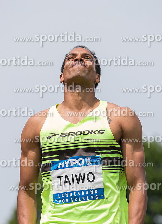 28.05.2016, Moeslestadion, Goetzis, AUT, 42. Hypo Meeting Goetzis 2016, Zehnkampf der Herren, Weitsprung, im Bild Jeremy Taiwo (USA) // Jeremy Taiwo of United States during the Long jump event of the Decathlon competition at the 42th Hypo Meeting at the Moeslestadion in Goetzis, Austria on 2016/05/28. EXPA Pictures © 2016, PhotoCredit: EXPA/ Peter Rinderer