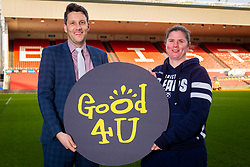Good 4 U's Karol Butler and Bristol Bears Women Kim Oliver - Ryan Hiscott/JMP - 09/01/2019 - COMMERCIAL - Ashton Gate - Bristol, England - Bristol Sport Announce Sponsor Partnership with Good 4 U