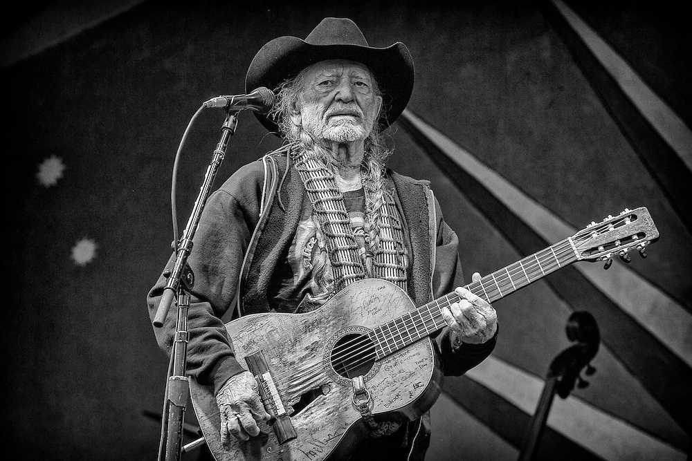 Willie Nelson performs on the Gentilly Stage during the 2013 New Orleans Jazz & Heritage Music Festival at Fair Grounds Race Course on May 3, 2013 in New Orleans, Louisiana. USA.