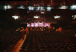 Inside The Providence Civic Center before the Grateful Dead perform Live on 18 January 1979. Early, before the doors opened.