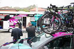Calm before the strom before Stage 1 of the Ladies Tour of Norway - a 101.5 km road race, between Halden and Mysen on August 18, 2017, in Ostfold, Norway. (Photo by Balint Hamvas/Velofocus.com)