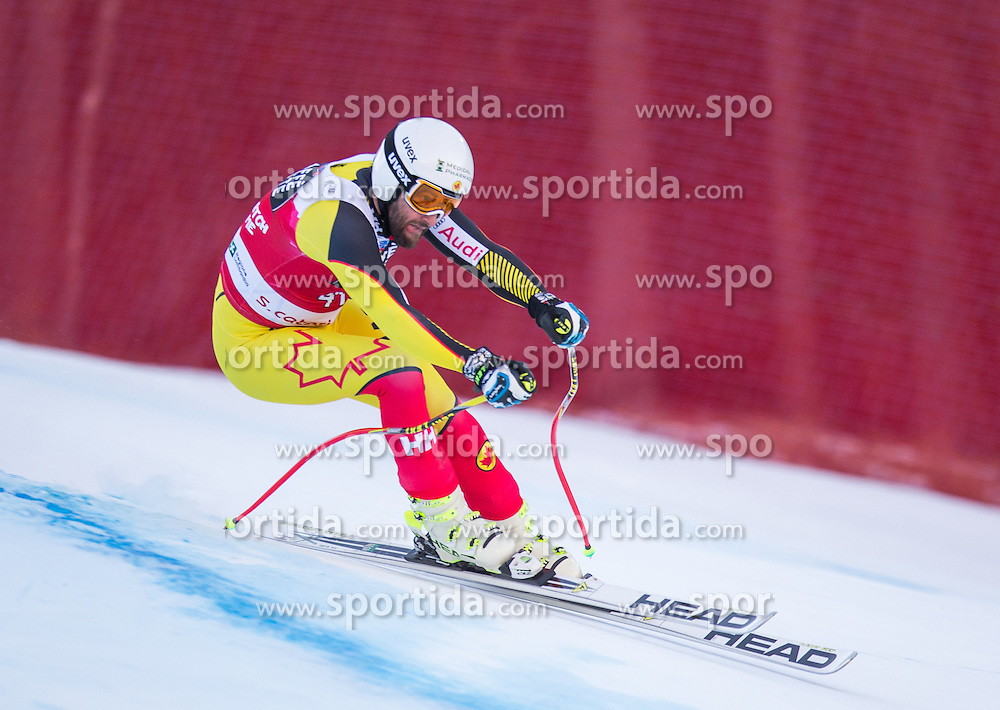 29.12.2015, Deborah Compagnoni Rennstrecke, Santa Caterina, ITA, FIS Ski Weltcup, Santa Caterina, Abfahrt, Herren, im Bild Jeffrey Frisch (CAN) // Jeffrey Frisch of Canada in action during the men's Downhill of the Santa Caterina FIS Ski Alpine World Cup at the Deborah Compagnoni Course in Santa Caterina, Italy on 2015/12/29. EXPA Pictures © 2015, PhotoCredit: EXPA/ Johann Groder
