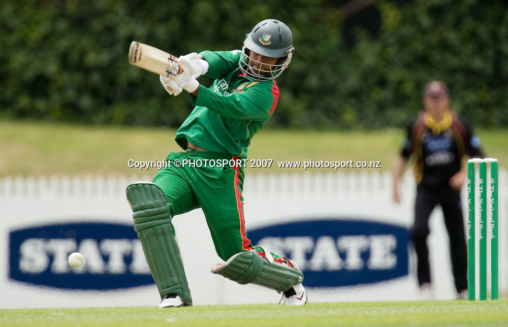 Bangladesh batsman Tamim Iqbal. Northern Knights v Bangladesh. One day tour cricket match. Seddon Park, Hamilton. Sunday 16 December 2007. Photo: Stephen Barker/PHOTOSPORT