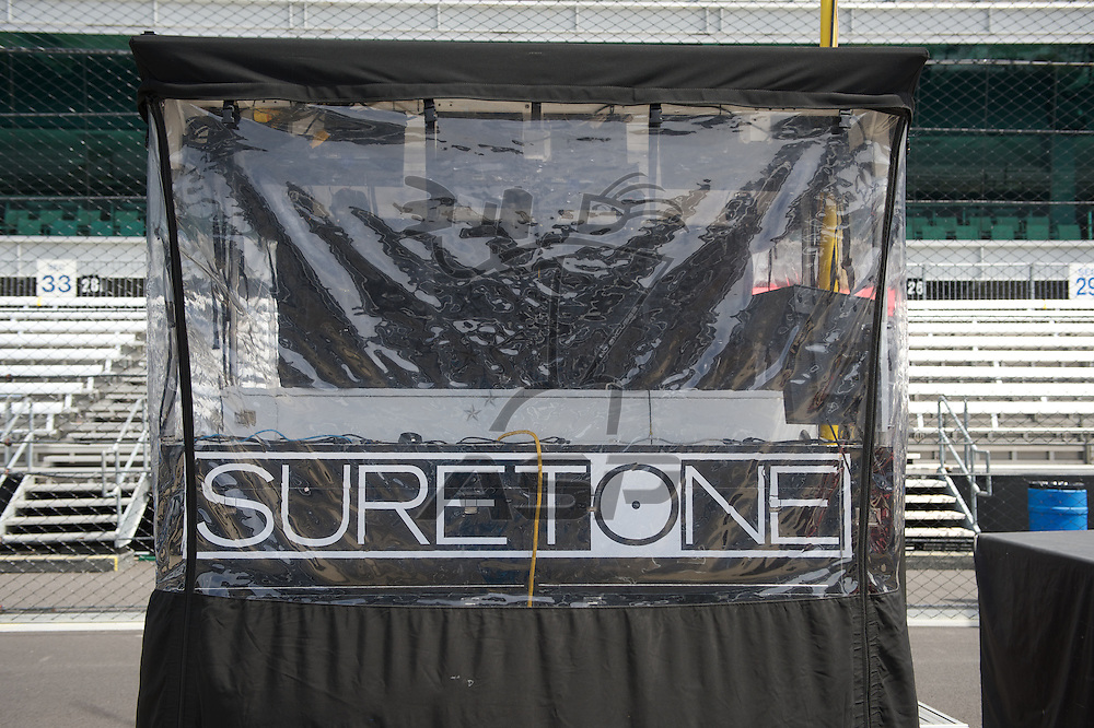 Indianapolis, IN - May 24th, 2014:  A view of the 26 Suretone pit box for Kurt Bush during the Indianapolis 500 IndyCar race in Indianapolis, IN.  <br /> <br /> MANDATORY PHOTO CREDIT:  Walter G. Arce, Sr. KBI/ActionSportsInc.com