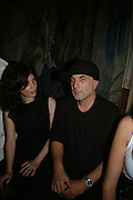 LAIL ARAD AND RON ARAD, Party for David LaChapelle and Ron Arad given by Ivor Braka. Cadogan sq. London. 10 October 2007. -DO NOT ARCHIVE-© Copyright Photograph by Dafydd Jones. 248 Clapham Rd. London SW9 0PZ. Tel 0207 820 0771. www.dafjones.com.