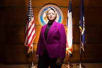 Houston Mayor Annise Parker, March 5, 2014 in Houston in the Proclamation Room of Houston City Hall.