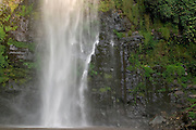 Tropical waterfall, Ghana. Wli falls, highest waterfall in west africa.
