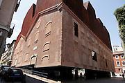 exterior of CaixaForum Madrid Spain by the Architect team Herzog and de Meuron