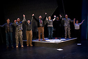 "Rehearsal of ""Coming Home: A Soldiers' Story"" on Feb. 1. Photo by Gavin Doremus."