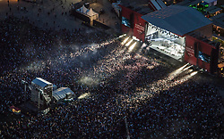 Client: LOCOG. First concert to take place on The Queen Elizabeth Olympic Park.  Photo: Anthony Charlton