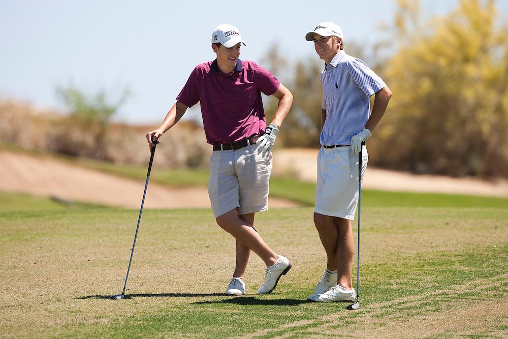 American Junior Golf Association players Jordan Spieth and Patrick Cantlay at the Thunderbird International Junior tournament.