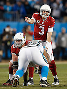 CHARLOTTE, NC - JAN 24:  Quarterback Carson Palmer #3 of the Arizona Cardinals points during the NFC Championship game against the Carolina Panthers at Bank of America Stadium on January 24, 2016 in Charlotte, North Carolina.