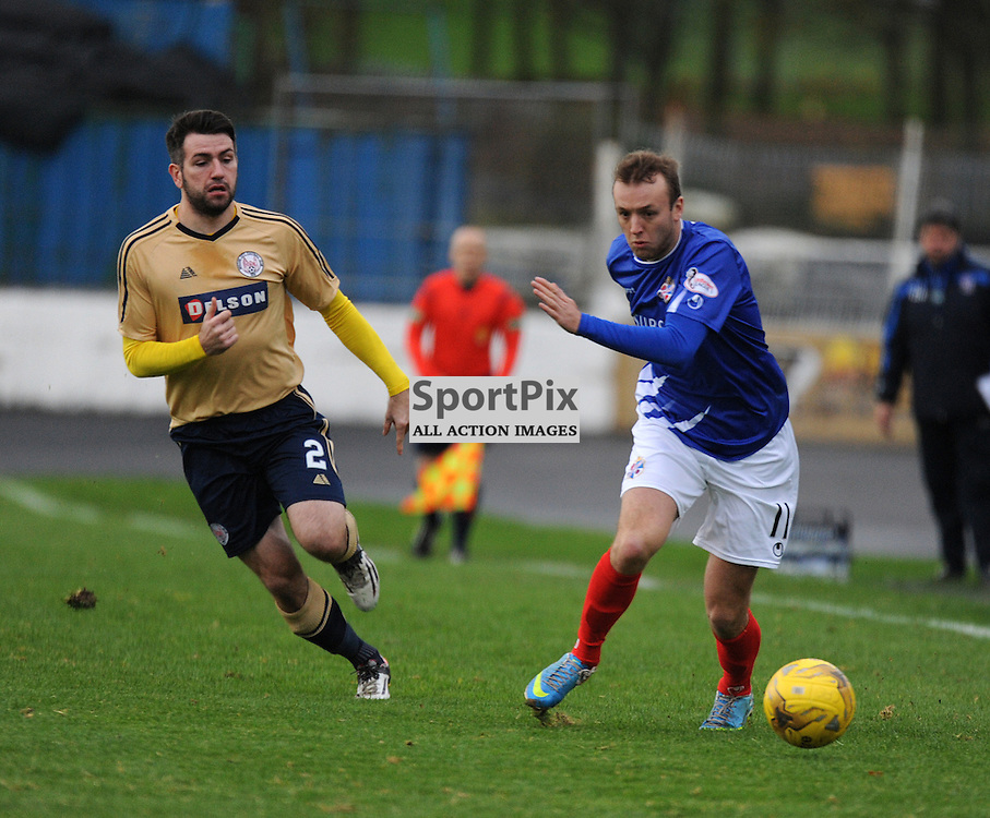 Cowdenbeath v Brechin Ladbrokes League 1 Central Park 14 November 2015<br /> <br /> Paul McLean and Greig Spence<br /> <br /> (c) David Wardle | StockPix.eu