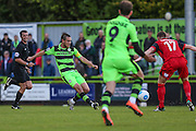 Forest Green Rovers Liam Noble(15) passes the ball forward during the Vanarama National League match between Forest Green Rovers and Barrow at the New Lawn, Forest Green, United Kingdom on 1 October 2016. Photo by Shane Healey.