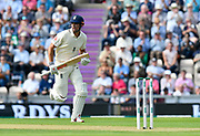 Alastair Cook of England, who is retiring at the end of the series, batting during the first day of the 4th SpecSavers International Test Match 2018 match between England and India at the Ageas Bowl, Southampton, United Kingdom on 30 August 2018.
