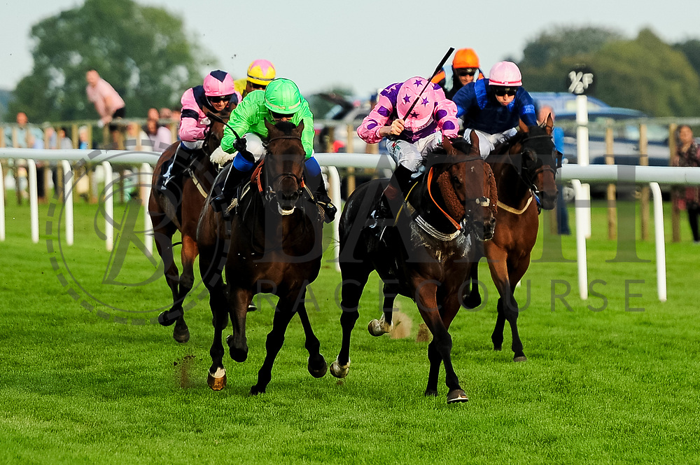Artic Sea ridden by Megan Nicholls and trained by Paul Cole in the Visit Four From The Top At Valuerater.Co.Uk Apprentice Handicap race. Carp Kid ridden by Finley Marsh and trained by John Flint in the Visit Four From The Top At Valuerater.Co.Uk Apprentice Handicap race.  - Ryan Hiscott/JMP - 15/09/2019 - PR - Bath Racecourse - Bath, England - Race Meeting at Bath Racecourse