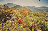 Trail running on the Appalachain Trail in the Blue Ridge Mountains.