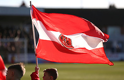 Fleetwood Town flag flown prior to kick-off