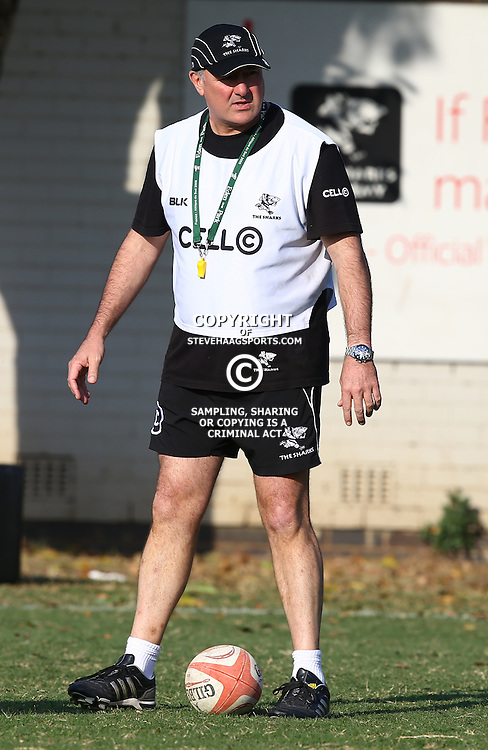 DURBAN, SOUTH AFRICA Tuesday 30th June 2015 - Gary Gold (Sharks Director of Rugby) during the Cell C Sharks training session at Growthpoint Kings Par in Durban, South Africa. (Photo by Steve Haag)
