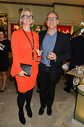 ANTHONY &  ILIANE OGILVIE-THOMPSON at the London debut of Nest - an organisation to promote peace and prosperity in partnership with artisans worldwide, held at Thomas Goode & Co, South Audley Street, London on 4th November 2014.
