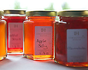 Jars of Apple jelly made at Longueville House.