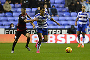 Reading's Nick Blackman attacking down the wing during the Sky Bet Championship match between Reading and Queens Park Rangers at the Madejski Stadium, Reading, England on 3 December 2015. Photo by Mark Davies.