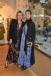 Emma Rose Thatcher, Fashion Stylist and Rosie Underwood, Fashion Director at OK! Magazine at a cocktail and dinner hosted by fashion label Free People at Free People 38-39 Duke of York Square, Chelsea, London England. 21 May 2019.