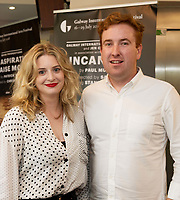 18/07/2018 repro free:  Sarah Jones and Craig Flaherty Druid  at the world premiere of Incantata by Paul Muldoon starring Stanley Townsend and directed by Sam Yates. Incantata is a Galway International Arts Festival and Jen Coppinger production and is now on at the Town Hall Theatre, Galway until Friday July 27as part of GIAF18. Incantata is a deeply moving rollercoaster ride of a show starring one of Ireland's leading actors.  Photo:Andrew Downes, XPOSURE