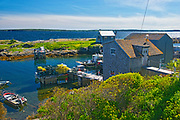 VFIshing village on the Atlantic Ocean, Blue Rocks, Nova Scotia, Canada