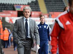 West Bromwich Albion Manager, Alan Irvine walks into the Liberty Stadium  - Photo mandatory by-line: Alex James/JMP - Mobile: 07966 386802 30/08/2014 - SPORT - FOOTBALL - Swansea - Liberty Stadium - Swansea City v West Brom - Barclays Premier League